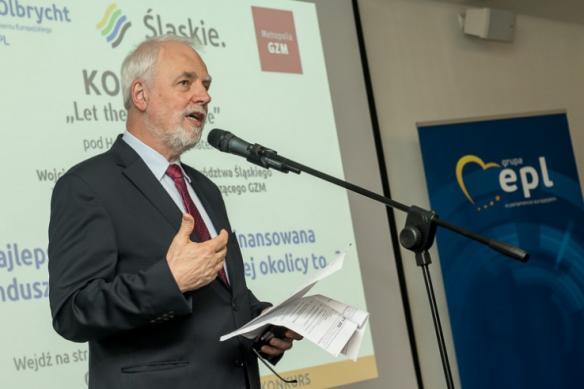 Przemówienie organizatora konkursu - europosła Jana Olbrychta