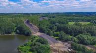 Teren pod budowę trasy - fot. UM Ruda Śląska