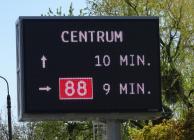Elektroniczna tablica informacyjna - fot. Zarząd Dróg Miejskich w Gliwicach
