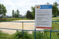 Obecny stan boiska do piłki plażowej przy kopalni w Żorach - fot. Patryk Pyrlik UMWS