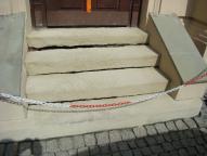Teatr Polski w Bielsku-Białej - schody do dyrekcji w trakcie renowacji