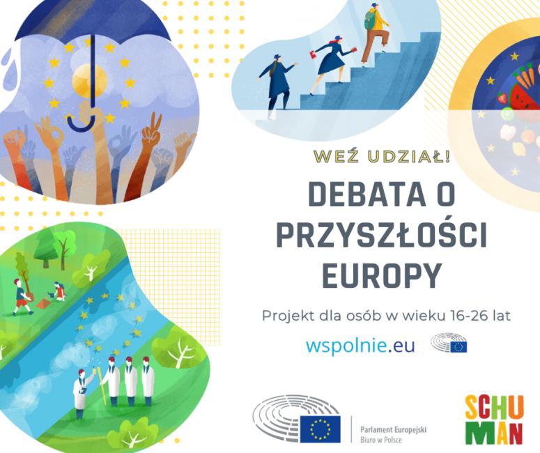 Debata o przyszłości Europy – plakat promocyjny