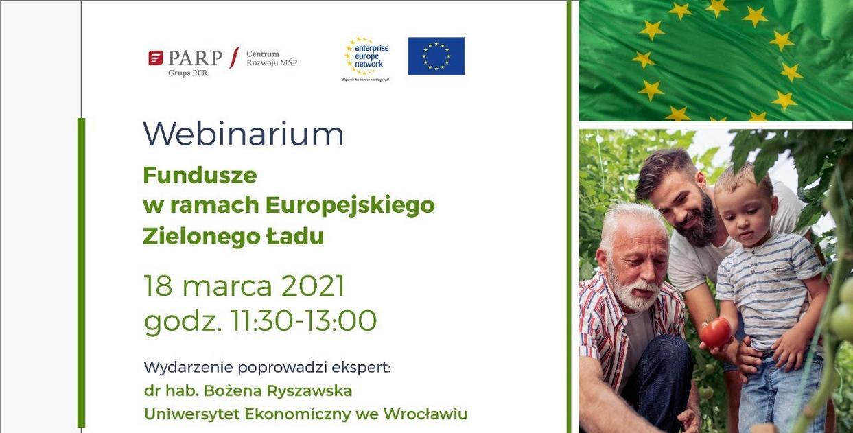 Webinarium Fundusze w ramach Zielonego Ładu 18-03-2021