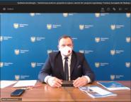 Marszałek Jakub Chełstowski podczas warsztatów