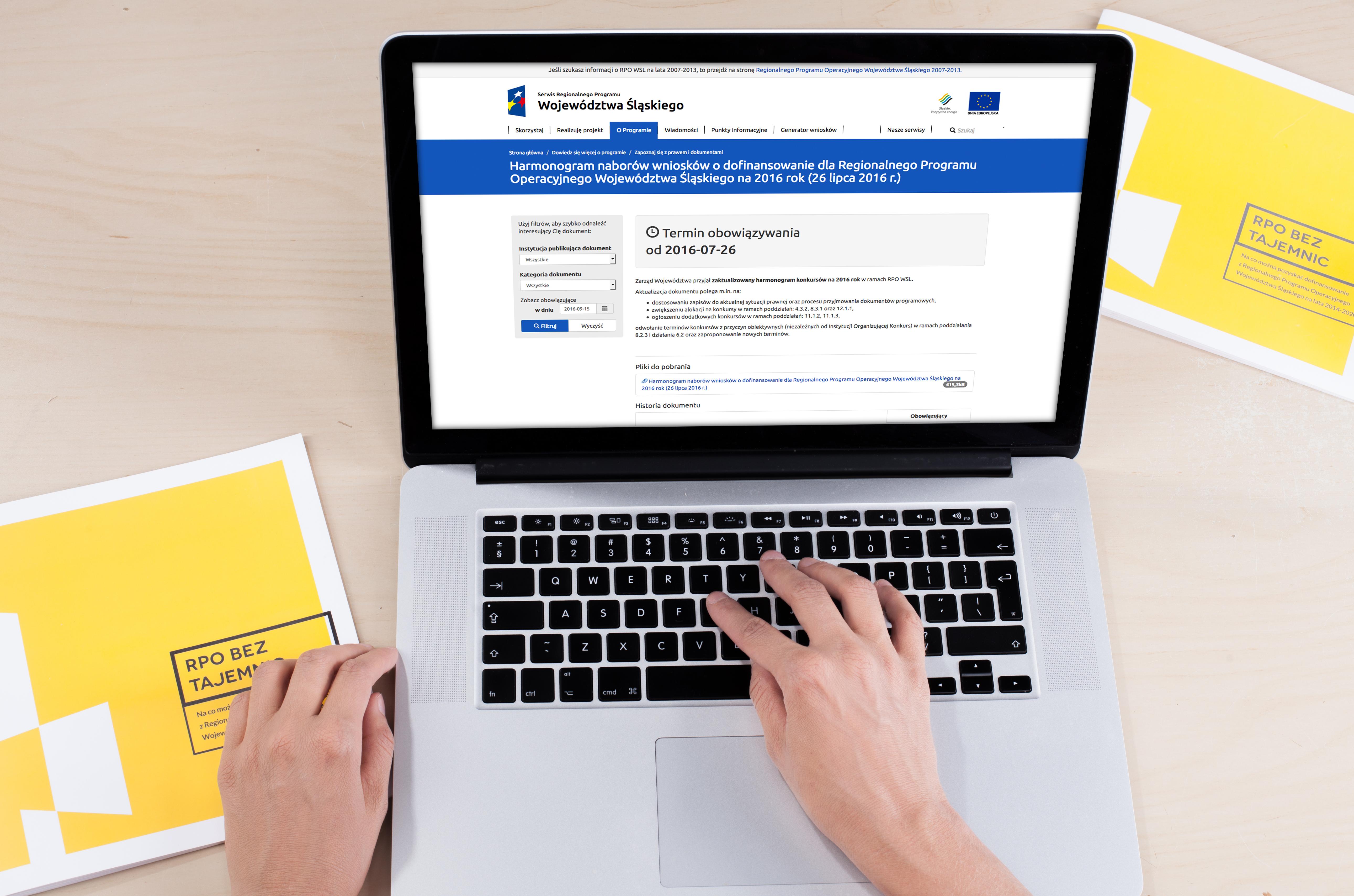 Aktualizacja harmonogramu naborów wniosków o dofinansowanie dla RPO WSL 2014-2020 na 2017 rok