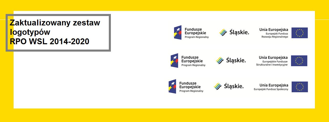Zaktualizowane zestawy logotypów RPO WSL 2014-2020 - dotyczy EFRR i EFS