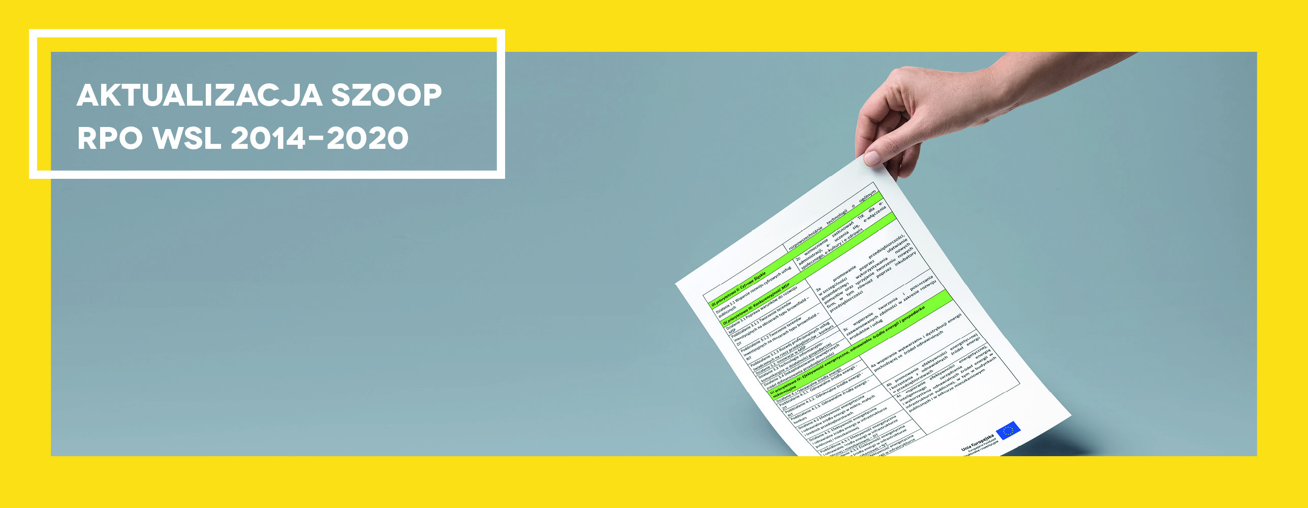 Szczegółowy Opis Osi Priorytetowych Regionalnego Programu Operacyjnego Województwa Śląskiego na lata 2014-2020 – aktualizacja do wersji 16.3