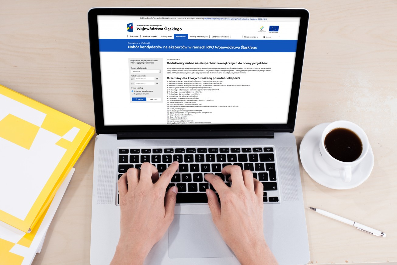 Nabór kandydatów na ekspertów Regionalnego Programu Operacyjnego Województwa Śląskiego na lata 2014-2020