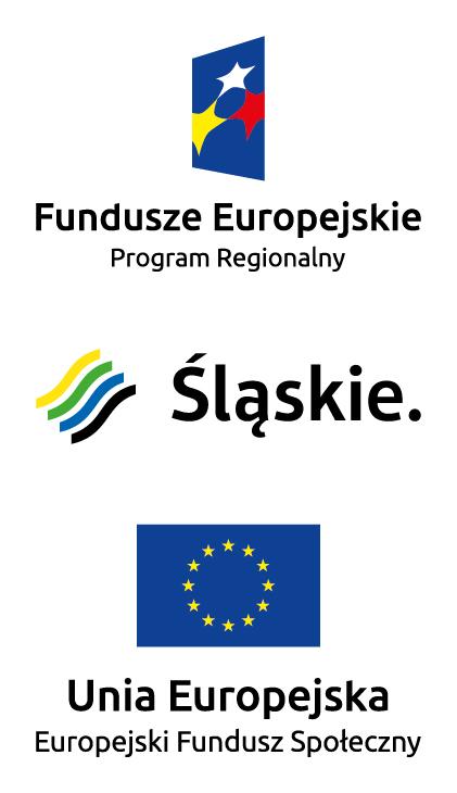 Zestawienie znaków zawierające Znak Unii Europejskiej, herb województwa oraz Znak Funduszy Europejskich