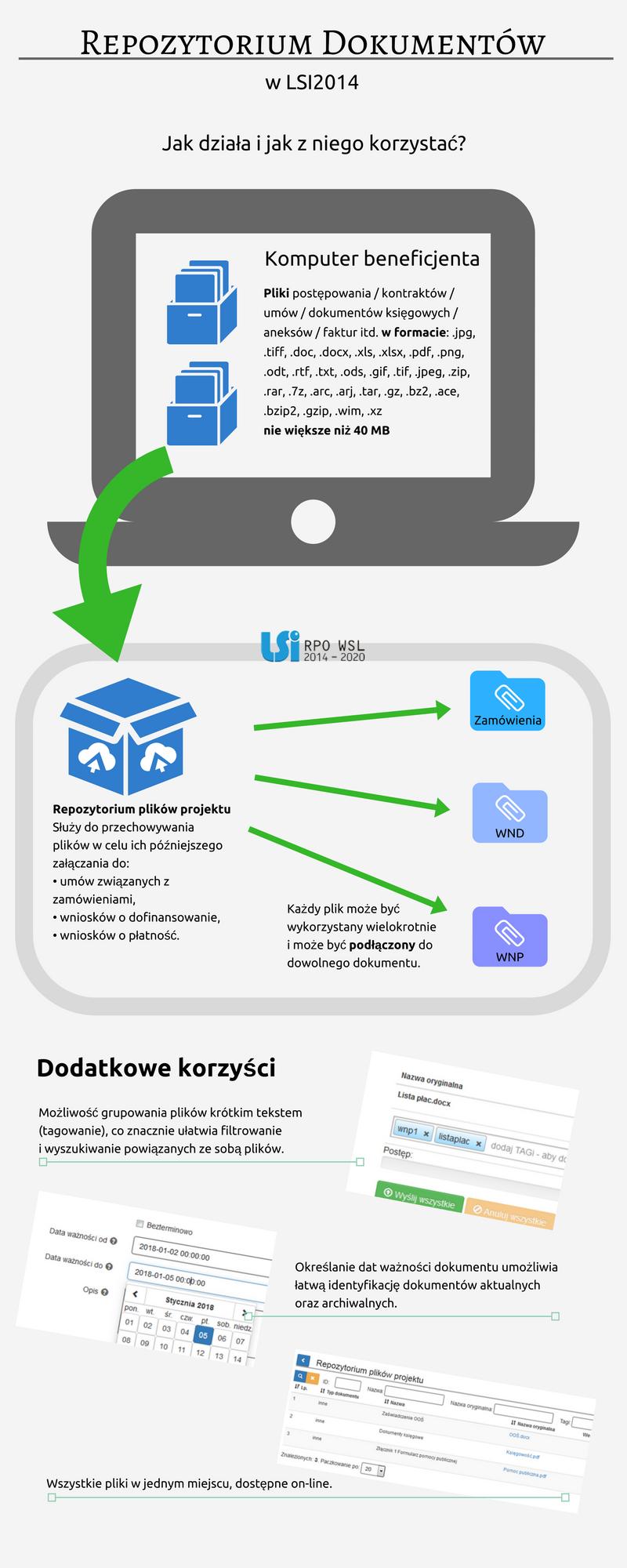 Infografika: repozytorium dokumentów w LSI